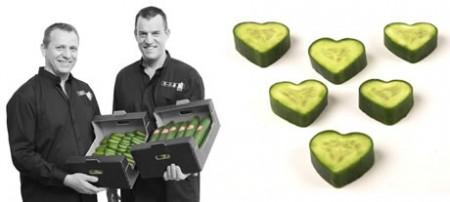Un'idea regalo originale per San Valentino? I cetrioli a forma di cuore…