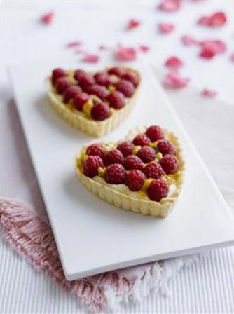 Crostatine ai lamponi per San Valentino