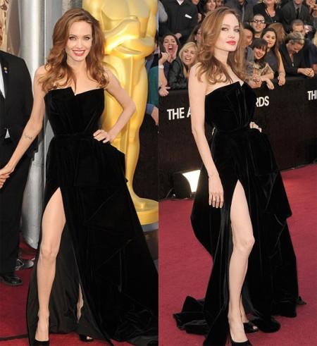 Angelina Jolie Oscar 2012: lo spacco della discordia