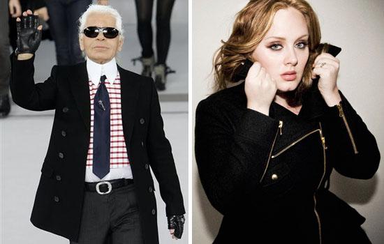 Karl Lagerfeld contro Adele