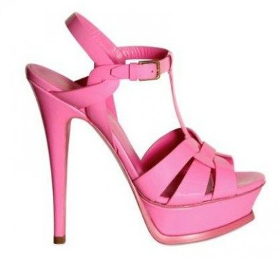 Sandali rosa Yves Saint Laurent