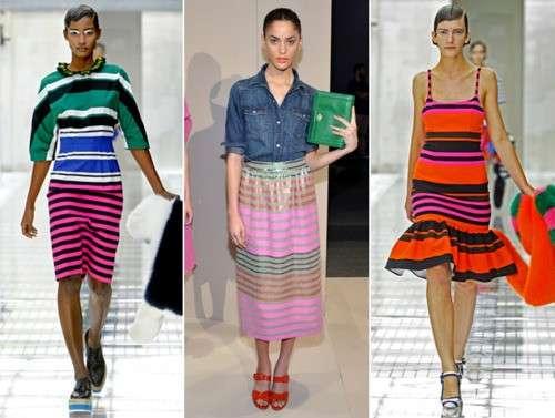 Righe e parigine, le tendenze moda della primavera 2012 [FOTO]