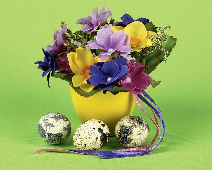 pasqua decorazioni fiori uova