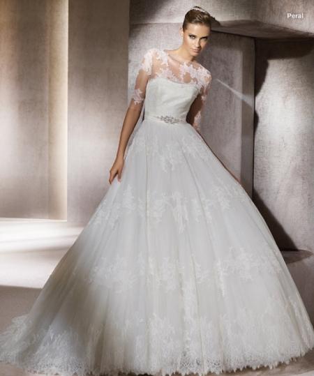 517e860c0646 Lo stile degli abiti da sposa Pronovias