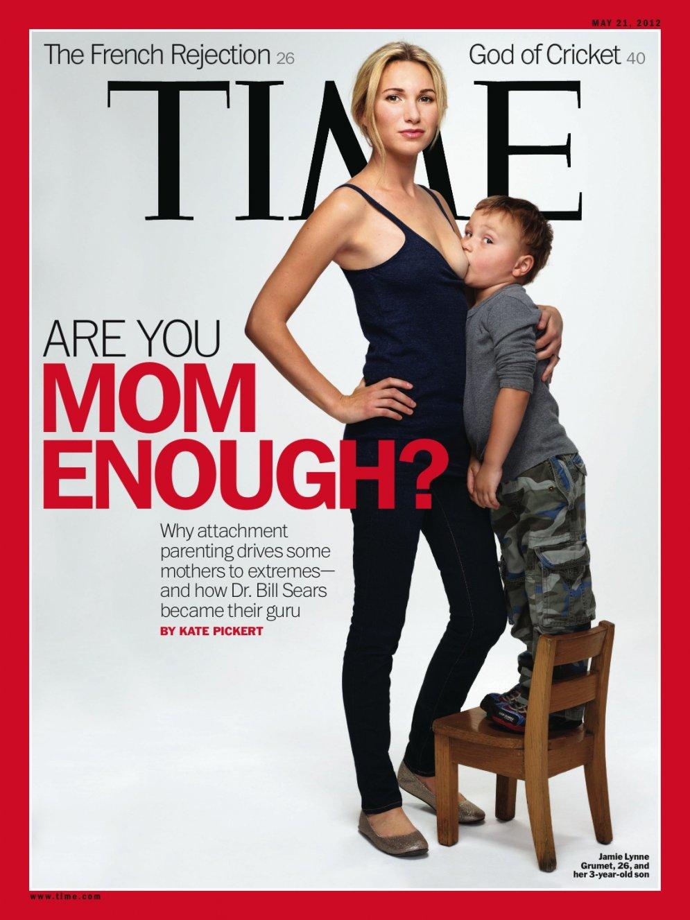 'Sei mamma abbastanza?', la copertina choc di Time sull'allattamento
