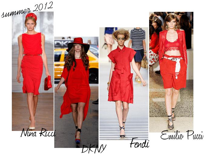 Rosso abiti estate 2012