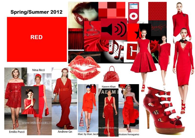 Il trend dell'estate 2012 è il rosso, abiti e accessori vermigli per tutte