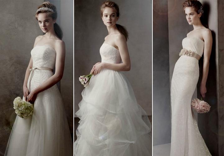 abiti sposa low cost white vera wang