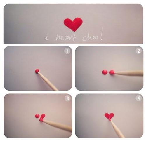 nail art cuore come farla