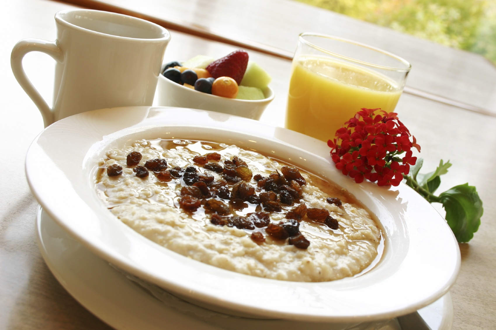 Breakfast Series Oatmeal with raisins
