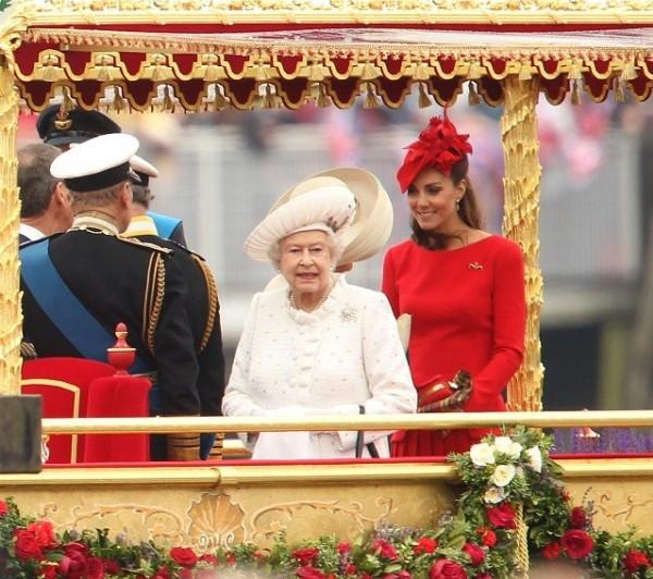 kate middleton e la regina elisabetta