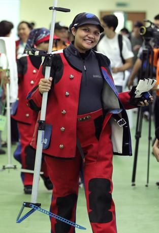 Olimpiadi 2012 atleta ottavo mese gravidanza