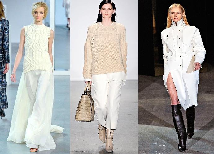 Tendenze moda autunno 2012 bianco