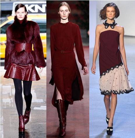 Tendenze moda autunno 2012 color vino
