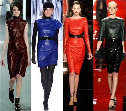 Tendenze moda autunno 2012 pelle
