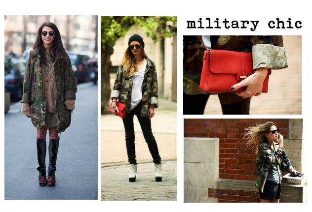 Tendenze moda autunno 2012 stile militare