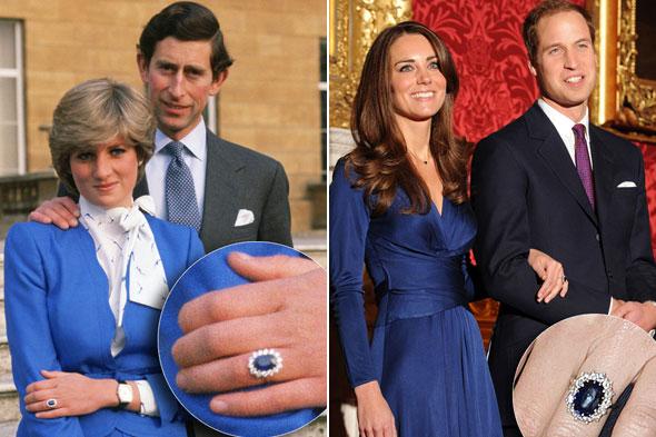 Kate e Diana anello fidanzamento