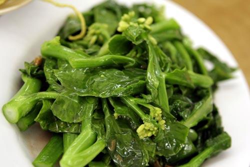 Vegetali foglia verde capelli sani