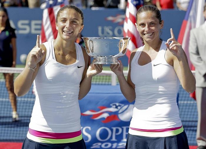 US open tennis, Errani Vinci trionfano nel doppio