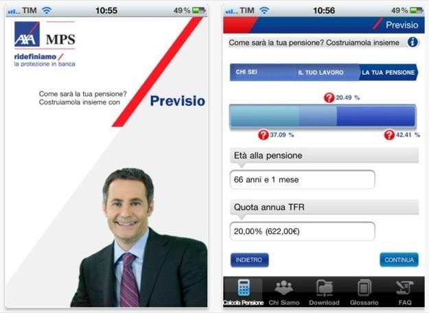 Axa MPS, l'App che ti aiuta a calcolare la pensione