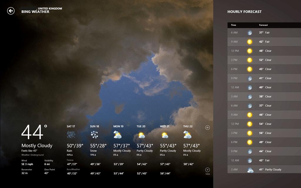 Windows 8, partire sicuri grazie alle mappe e alle previsioni meteo