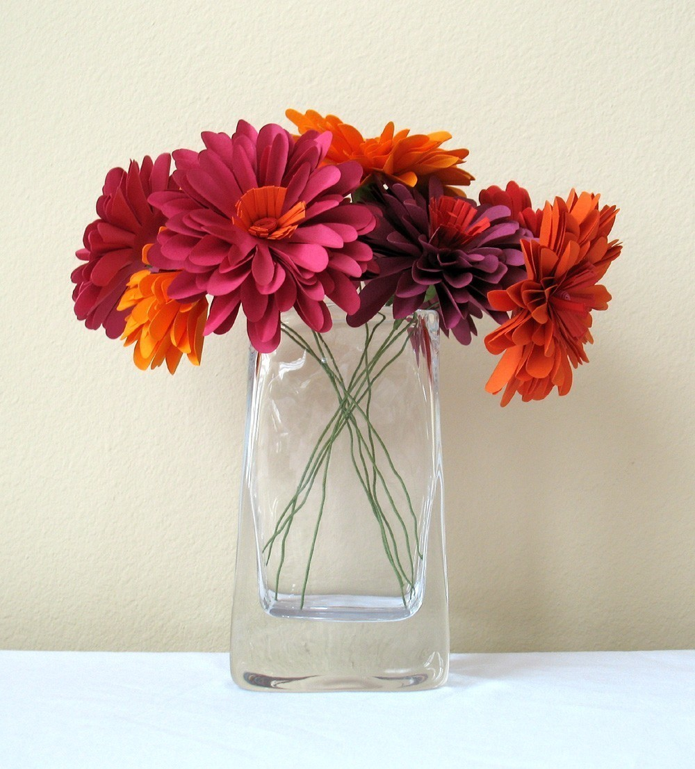 fiori di carta vasetto