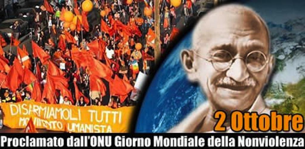 Giornata della Non-Violenza in onore di Gandhi