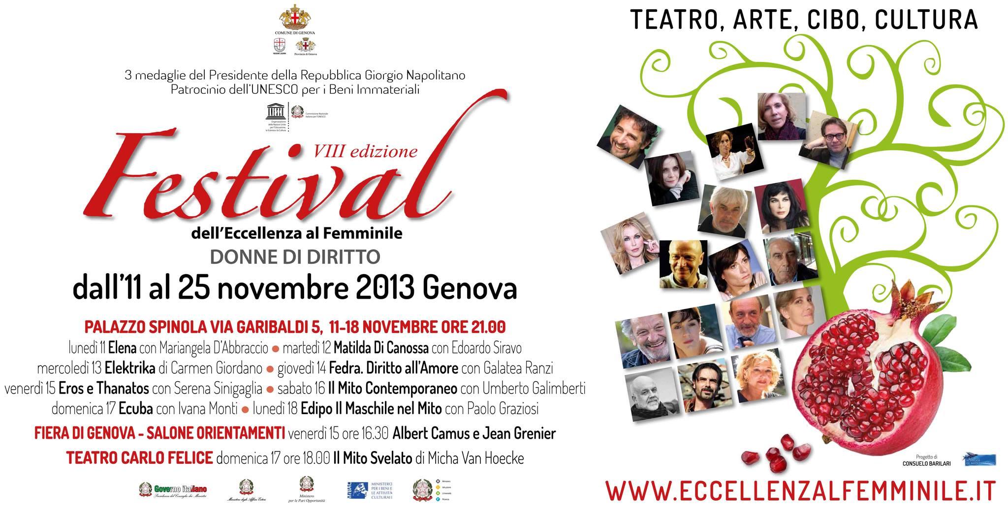 Festival dell'Eccellenza al Femminile: VIII edizione per la tutela dei diritti