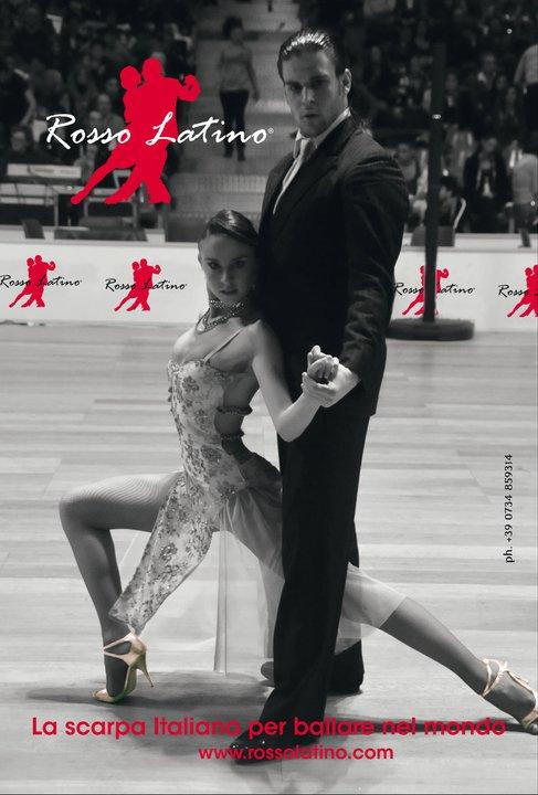 Scarpe da tango Rosso Latino