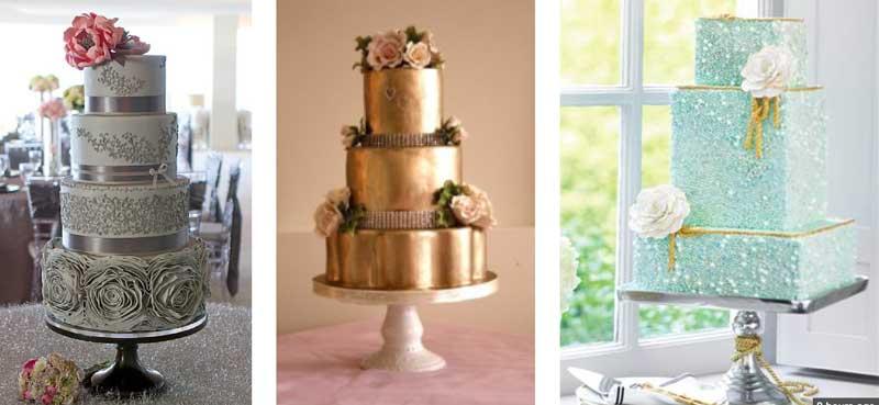 Decorazioni originali per torte di nozze