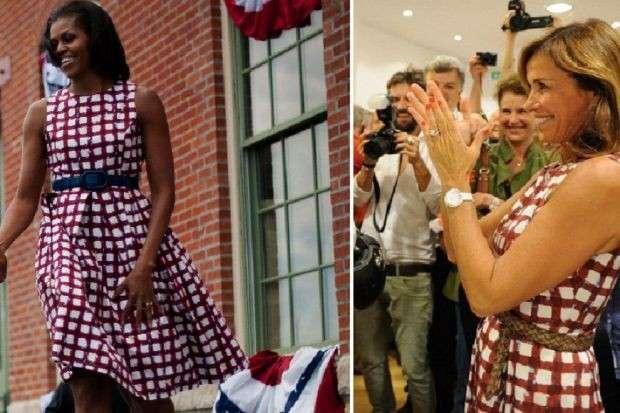 Cristina Parodi: First Lady a Bergamo vestita come Michelle Obama [FOTO]