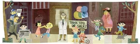 Google Doodle di oggi dedicato a Jonas Salk: salvò il mondo dalla polio [FOTO]