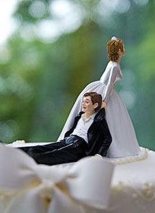 cake topper divertenti sposi