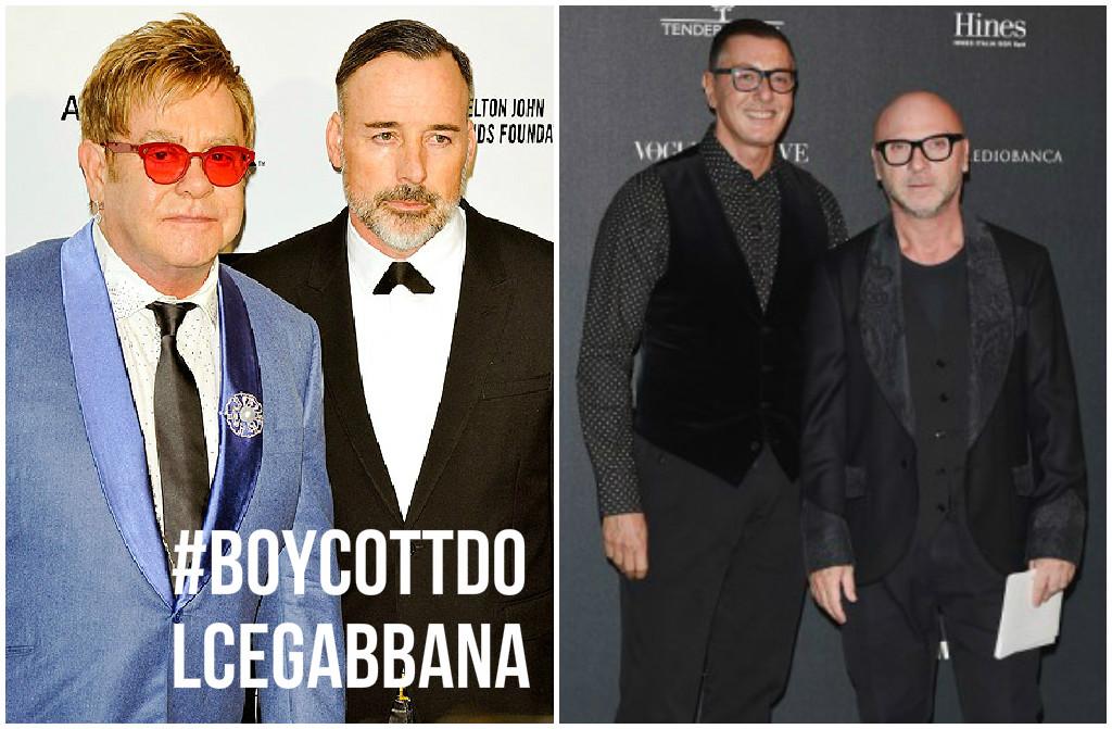 Elton John contro Dolce e Gabbana per difendere i genitori gay