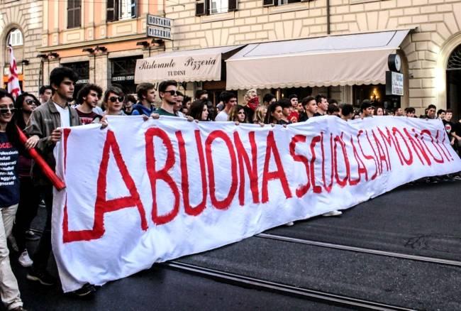 Protesta contro la riforma della scuola