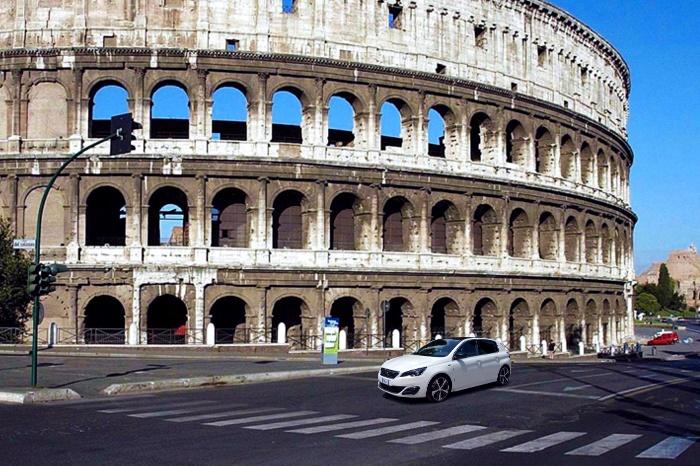 Viaggio a Roma con il bassotto e la Peugeot 308 GT