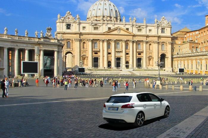 La Peugeot 308 gt a San Pietro
