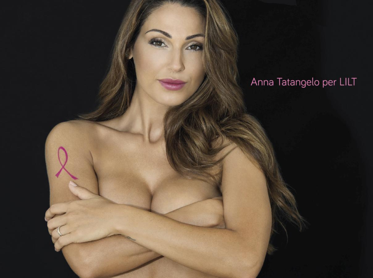 Anna Tatangelo in posa sensuale per la lotta contro i tumori, insorgono le femministe