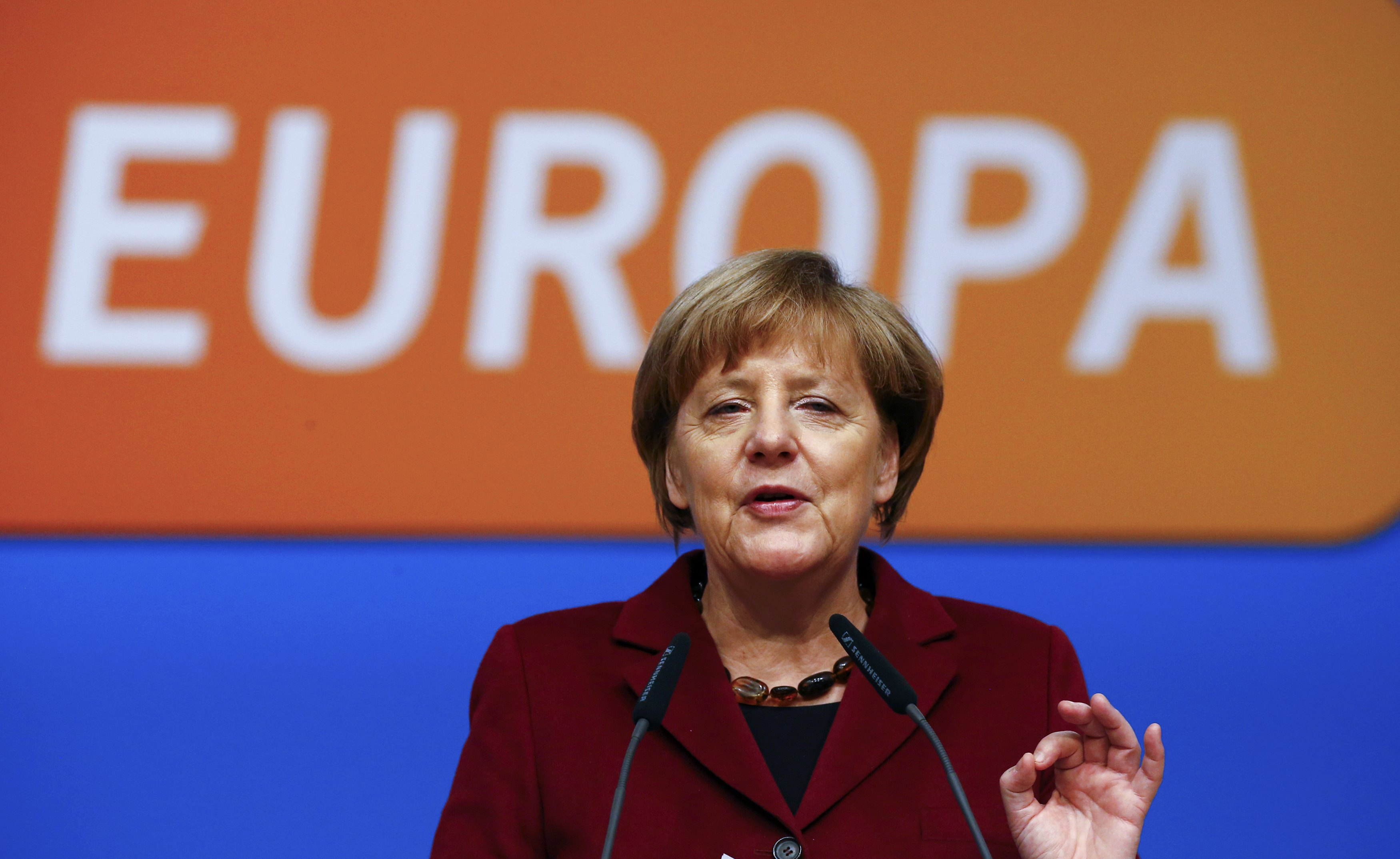 Angela Merkel, congresso della CDU a Karlsruhe