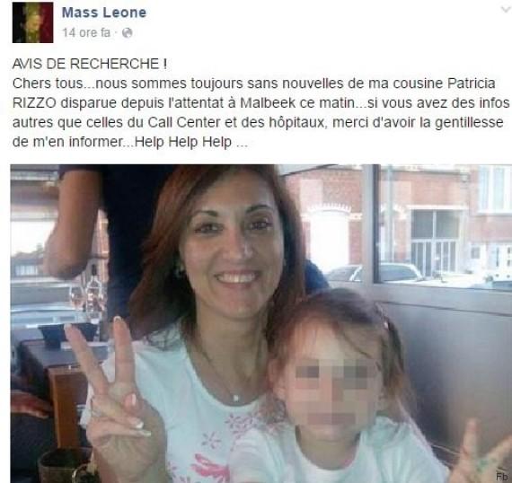 L'appello del cugino di Patricia Rizzo su Facebook
