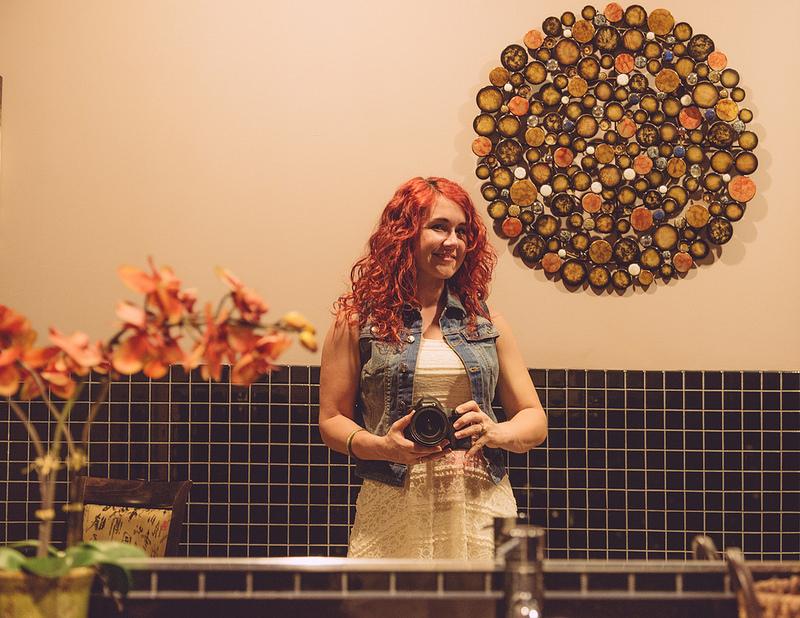 Selfie davanti allo specchio