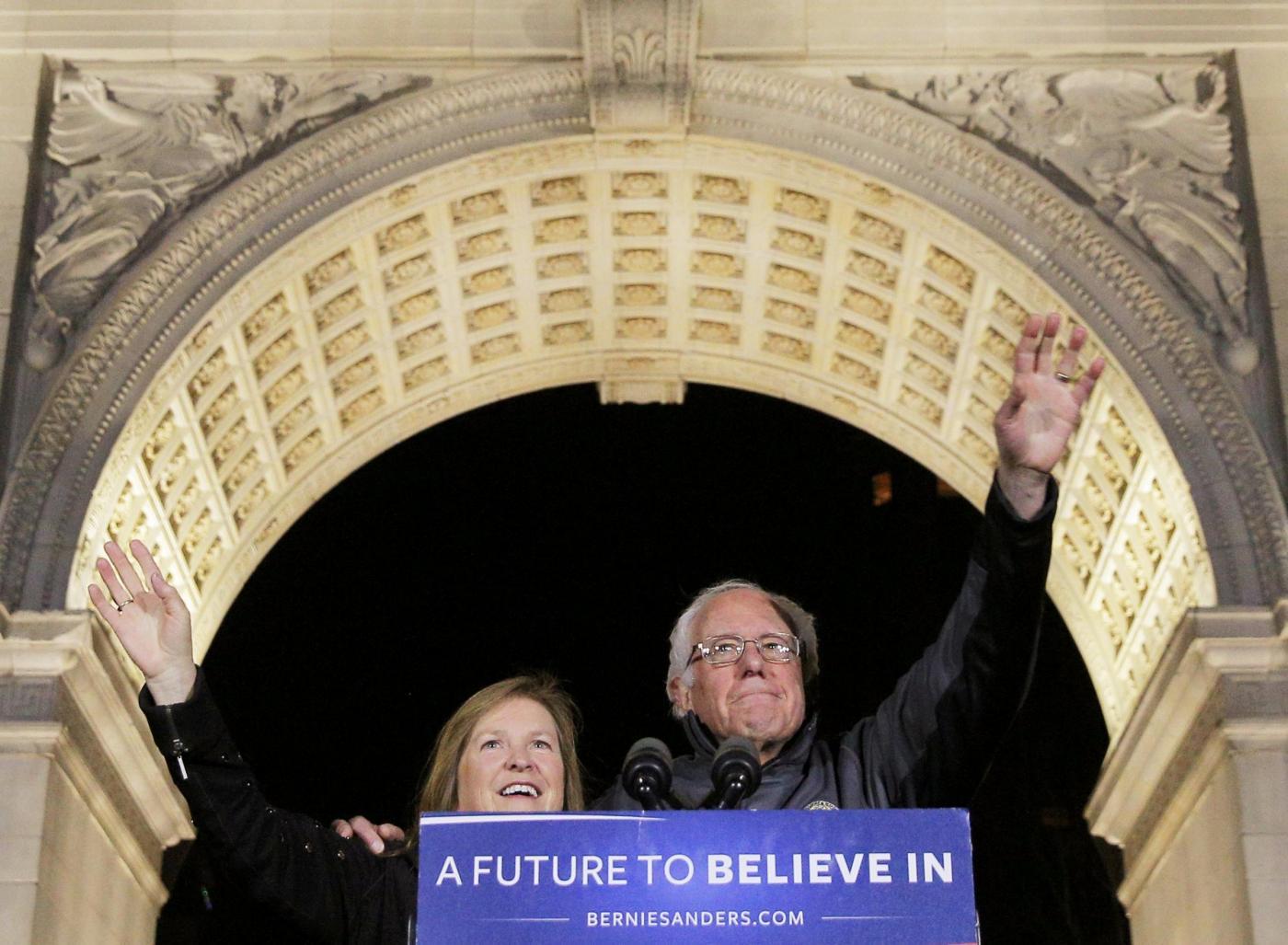 Jane O'Meara Sanders con il marito Bernie