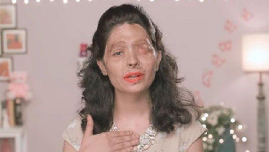Reshma Qureshi sfigurata dall'acido sfilerà in passerella a New York