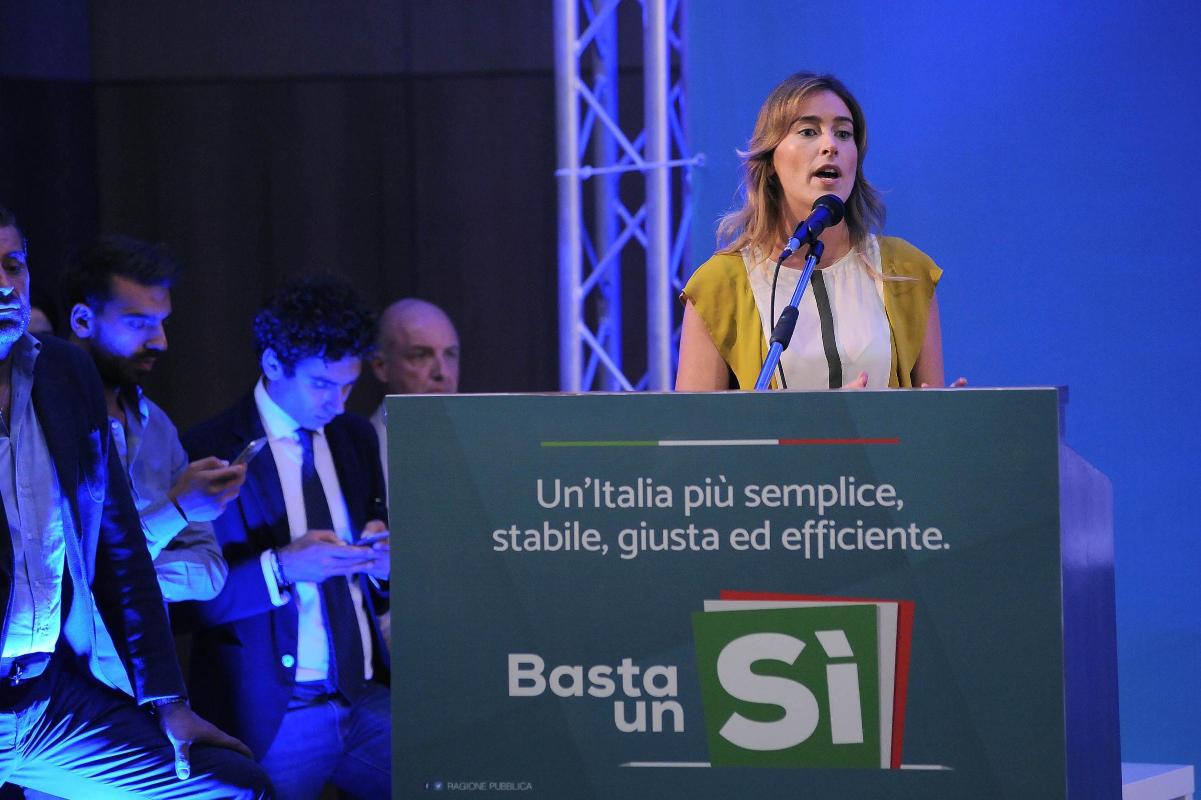 ll Ministro Maria Elena Boschi a Salerno per illustrare la Riforma Costituzionale