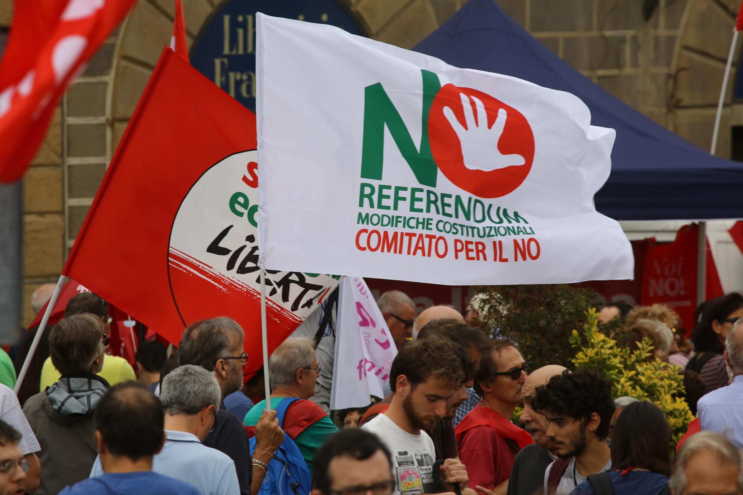 Firenze, Stavolta No: manifestazione contro la riforma costituzionale
