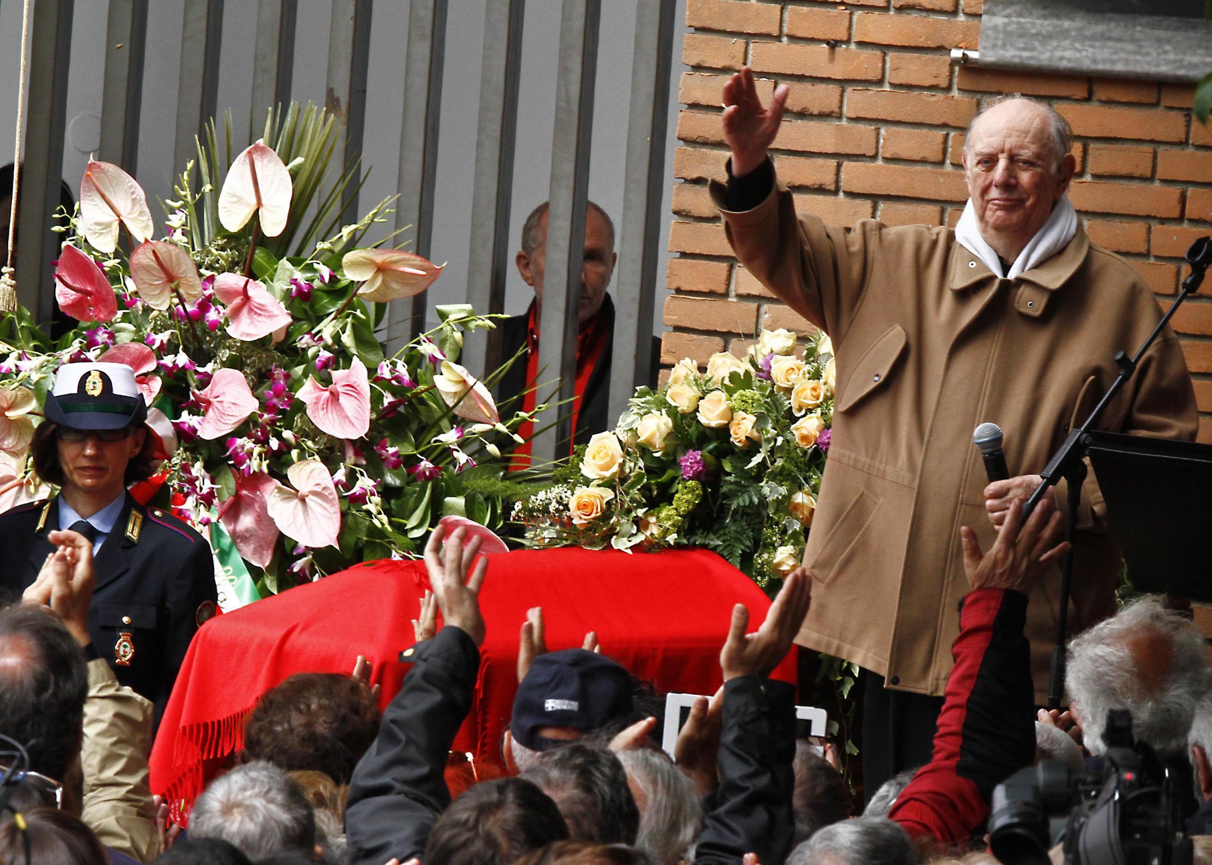 Milano, l'ultimo saluto a Franca Rame