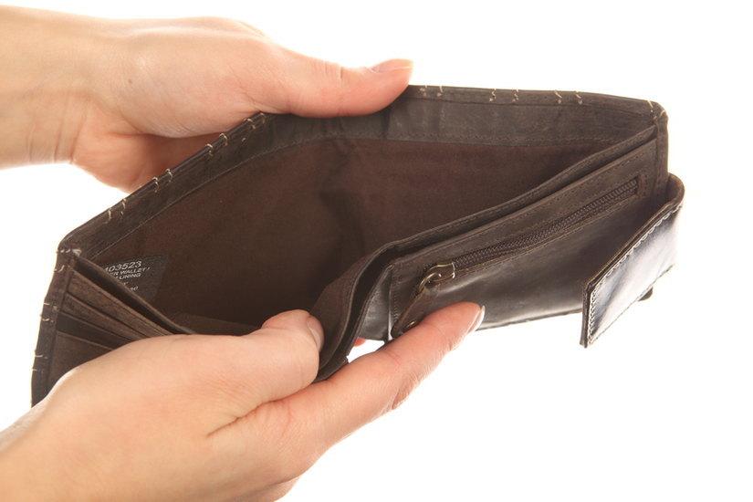 portafoglio senza soldi