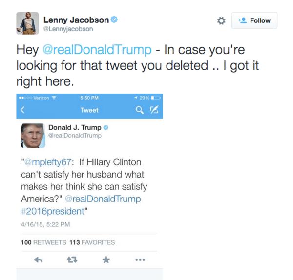 trump tweet hillary