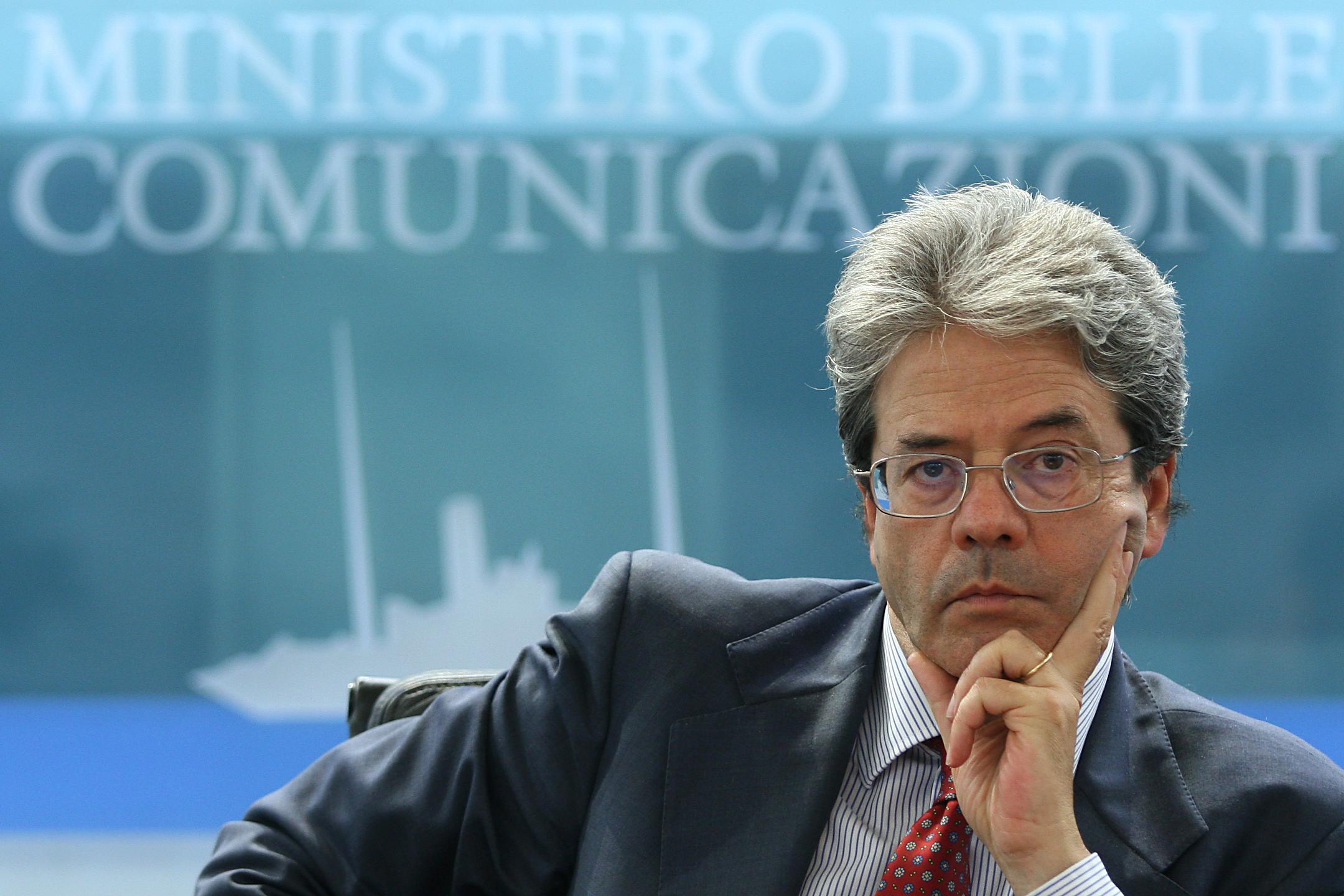 Gentiloni ministro Comunicazioni