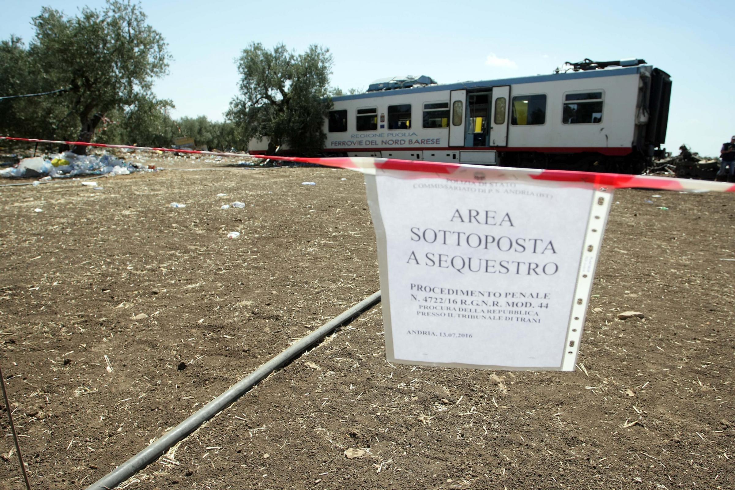 Incidente treni Puglia, sopraluogo sul posto a Corato